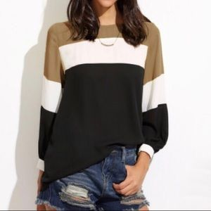 Lantern sleeve top